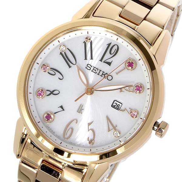 【高い素材】 セイコー SEIKO ルキア LUKIA ソーラー クオーツ レディース 腕時計 SUT302J1 ホワイト【送料無料】, パッキングリスト 3c7d51a1