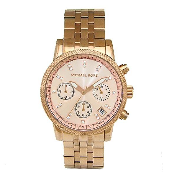 お待たせ! クオーツ クロノ マイケルコース レディース MK6077 腕時計 MICHAELKORS 時計 ピンク-その他腕時計