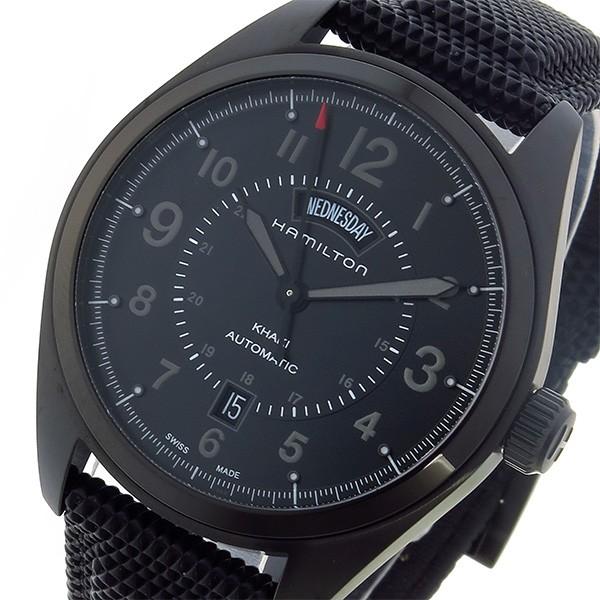 有名ブランド ハミルトン HAMILTON カーキ フィールド KHAKI 自動巻き メンズ 腕時計 H70695735 ブラック【送料無料】, CLOTHES UNIT 1b30c122