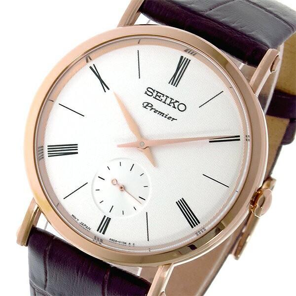 激安先着 セイコー SEIKO プルミエ Premier クオーツ ユニセックス 腕時計 SRK038P1 ホワイト【送料無料】, カットバック 081ace64