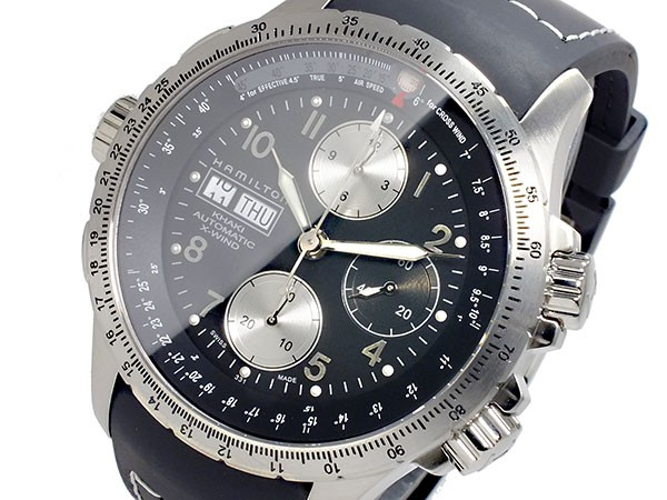 日本製 ハミルトン HAMILTON カーキ KHAKI X-ウィンド 自動巻き メンズ 腕時計 H77616333【送料無料】, クニタチシ 0faba617