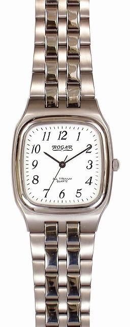 ラウンド  メンズ腕時計 【ROGAR】ローガル 日常生活用防水(日本製) RO-052M-WS /10点入り(き)【送料無料】-その他腕時計