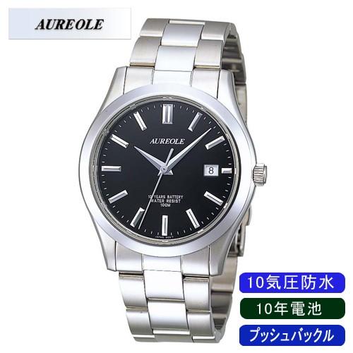 激安正規品 【AUREOLE】オレオール メンズ腕時計 SW-409M-1 アナログ表示 日常生活用防水 10年電池 10気圧防水 /10点入り(き)【送料無料】, カツヌマチョウ 36c00a35