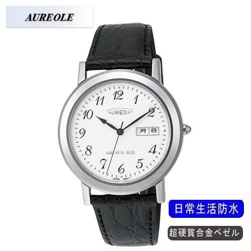 『3年保証』 【AUREOLE 日常生活用防水】オレオール メンズ腕時計 アナログ表示 SW-436M-3 アナログ表示 超硬質合金ベゼル メンズ腕時計 日常生活用防水/5点入り(き)【送料無料】, ウサグン:2ccdc2e0 --- 1gc.de