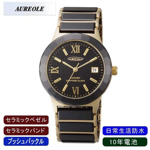 消費税無し 【AUREOLE】オレオール メンズ腕時計 SW-481M-2 アナログ表示 セラミック 10年電池 日常生活用防水 /5点入り(き)【送料無料】, 洋菓子ラファイエット 8ec4e1f6