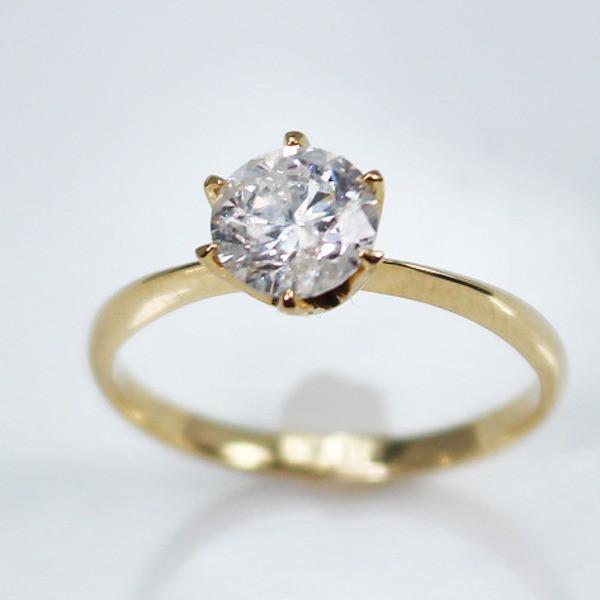 上品な K18イエローゴールド 1.0ct一粒ダイヤリング 指輪 指輪 7号, ハピネスライフケア:5cd39947 --- totally.wirnt-kulturverein.de