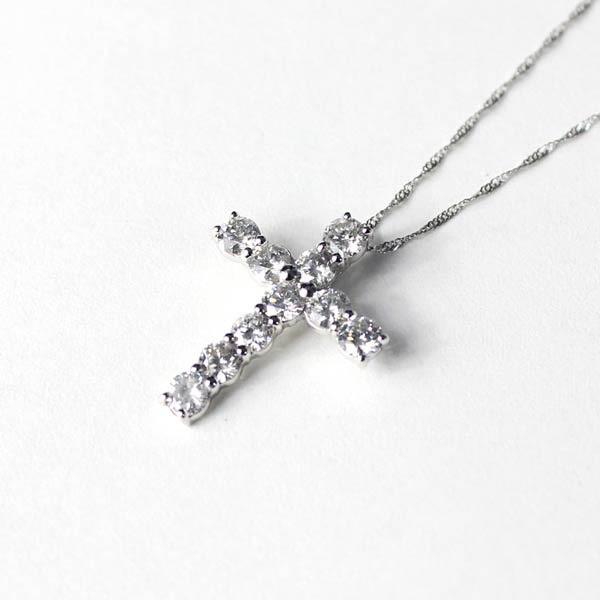 超人気の 18金ホワイトゴールド ダイヤモンド 1ct 1ct ダイヤモンド クロスペンダント, 天衡商事:fbd465c0 --- kzdic.de