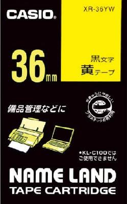 カシオ ネームランド用テープカートリッジ 粘着タイプ 36mm【XR-36YW】(OA・事務用品・ラベル用品)