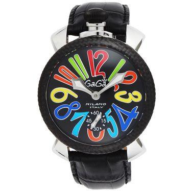 好きに GAGA ガガ ミラノ 5015.01S-BLK 腕時計 メンズ【送料無料】, ポンコタンオンライン 66b8e2de