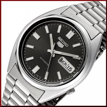 今季一番 SEIKO/セイコー 自動巻 メンズ腕時計【SEIKO5/セイコー5】メタルベルト ガンメタ文字盤 海外モデル SNXS79K, 飯岡町 1572ffcc