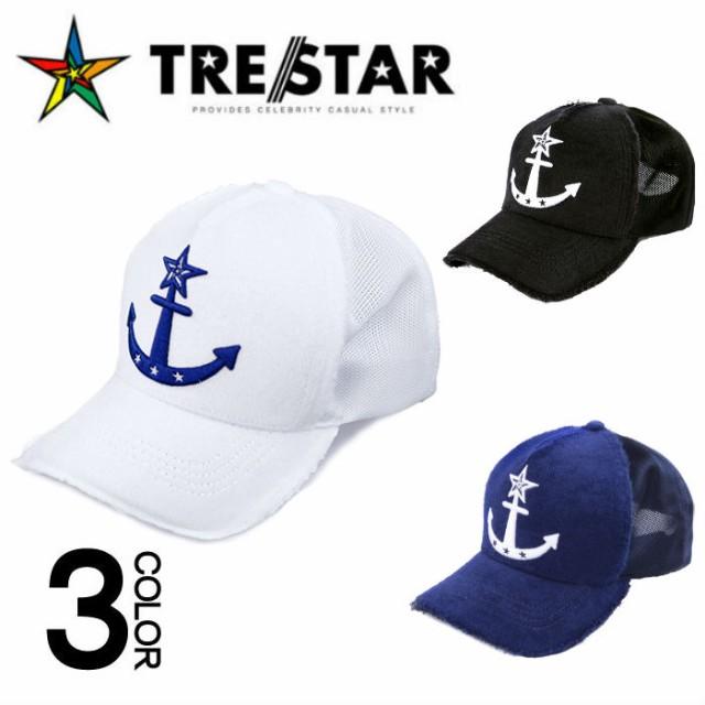TRE☆STAR トレスター PILE CAP -ANCHOR- パイル キャップ メンズ レディース ユニセックス カジュアル 帽子