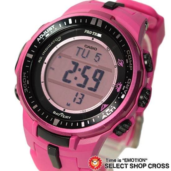 502e2c7b6a CASIO カシオ PRO TREK プロトレック メンズ 腕時計 電波 ソーラー トリプルセンサーVer.3 デジタル