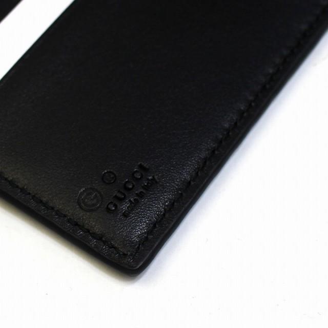 size 40 f2cc7 f4c9d 【還元祭ポイント最大30倍】あす着 グッチ GUCCI メンズ 二つ折り財布 マイクロ GG レザー 本革 ブラック グッチシマ アウトレット ブラ