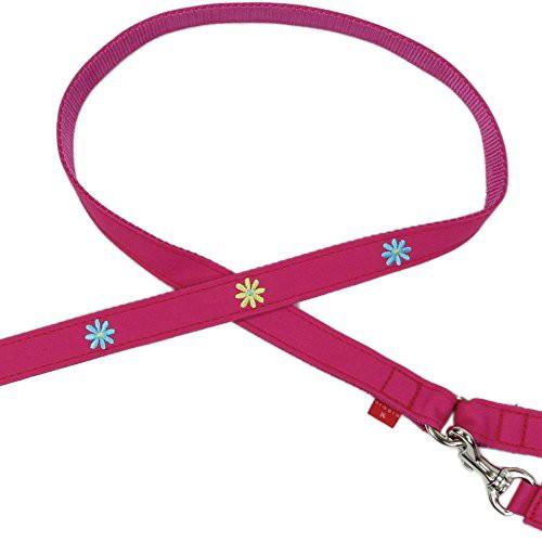 バーディ (BIRDIE) 8361 中・大型犬ワンタッチ布 カフェタイプリード リトルマーガレットリードLサイズ ピンク