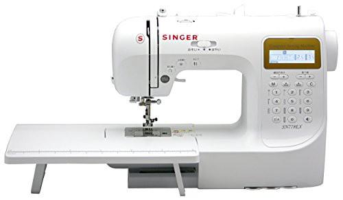 【正規品直輸入】 SINGER コンピュータミシン(数字・アルファベット・ひらがな縫い可能) SN77(品), 花助 cae03d12