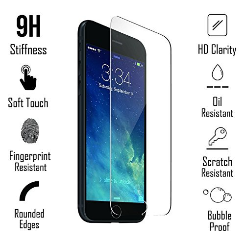 iPhone 8/7/6s/6 硬度 9H CaseYard 国内正規品 画面保護 ガラスフィルム 強化ガラス 液晶保護フィルム