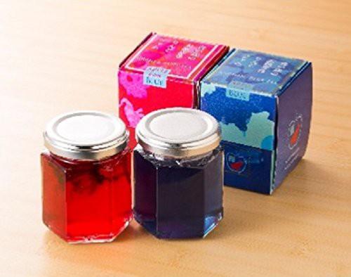 青い森の天然青色りんごジャム(小)と天然赤色ルビ―ジャム(小)のセット
