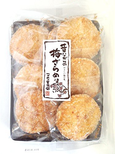 こめの里本舗 曲がり梅ざらめ煎餅 7枚×5袋