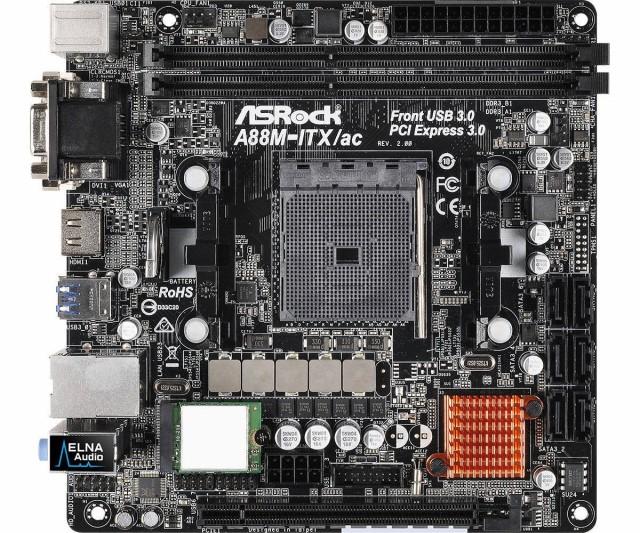 ASRock AMD A88Xチップセット搭載 Mini-ITXマザーボード A88M-ITX/ac R2.0