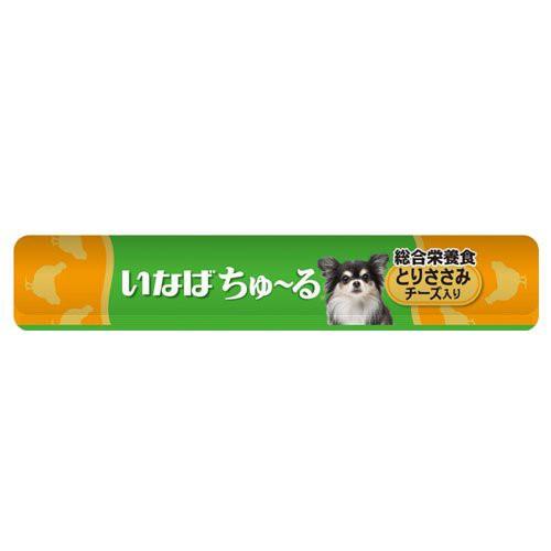 いなば ちゅ~る 総合栄養食 とりささみ チーズ入り14g×4本 犬用 ドッグフード(ウェットフード)
