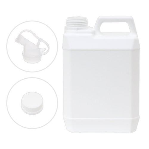 ポリ容器 キャップ・透ノズル付き 2L(空ボトル)