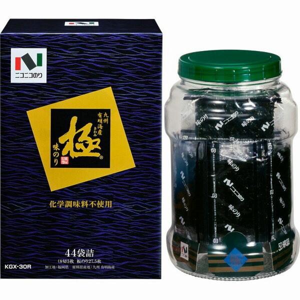 海苔 ニコニコのり 極味付のり瓶のり 味のり 味付け 個包装/KGX-30R