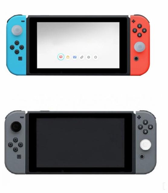 Nintendo Switch Joy-Conスティック用カバー 2個セット レッド キャップ 任天堂 Switch スイッチ[メール便発送、送料無料、代引不可]