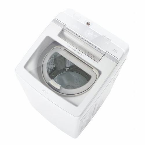 【35%OFF】 【無料長期保証】AQUA タテ型洗濯乾燥機 ホワイト系 洗濯9kg/乾燥4.5kg AQW-GTW90H(W)-洗濯機