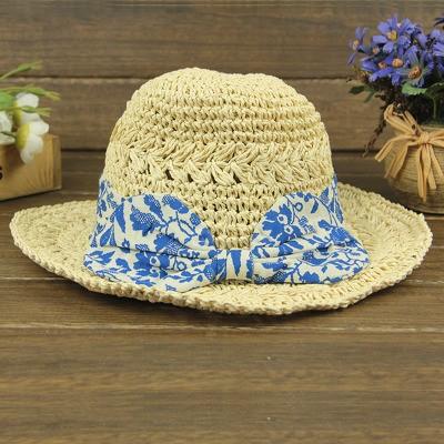 ビーチ帽子 防UV帽子 麦わら帽子 レディース帽子 レース付き