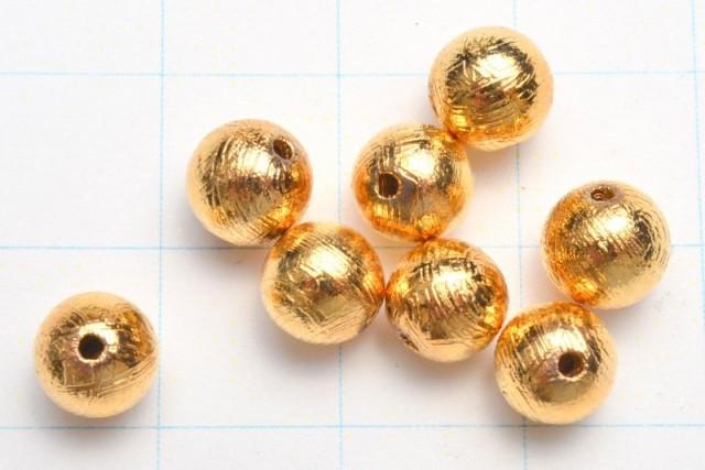 ギベオン(メテオライト)隕石 ゴールド 6mm 粒売り_T321-6
