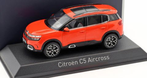 155561 Norev 1:43 Citroen C5 Aircross 2018 Volcano Red Silver Deco