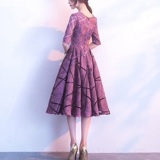 ドレス エレガンス ワンピース フレア フリル Aライン ドレス 結婚式 お呼ばれ