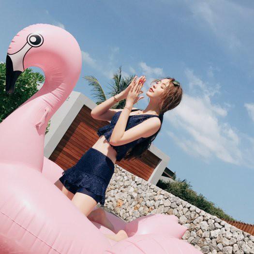 タンキニ セパレート モノトーン 大人女子 レース フリル 体型カバー 海 リゾート プール ブラック ネイビー 水着