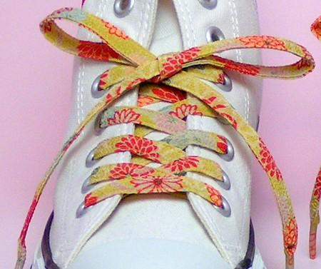 メール便 和柄靴ひも 柄多数ちりめん靴紐ロング おしゃれなメンズレディーススニーカーくつひも クツヒモ  日本製シューレース(色98L)の通販はWowma!