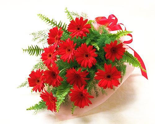 【誕生日】 【花】 赤いガーベラの花束【女性】 au Wowma!(ワウマ)