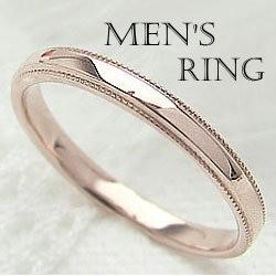 100%品質 メンズ シンプルリング ピンクゴールドK18 指輪 K18PG ピンキーリング 送料無料, MJ DIVA ebcaabfd