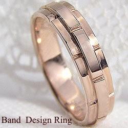 ビッグ割引 バンドデザイン ピンクゴールドK18 幅広 18金 ピンキーリング 幅広 18金 結婚指輪 レディースリング ベルト, 自然堂本舗:e4efae29 --- chevron9.de