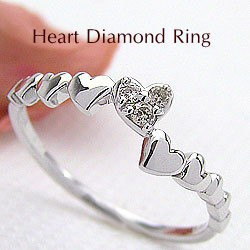 【国産】 ホワイトゴールドK18ハートリング K18WG指輪 天然ダイヤモンド 結婚記念日 天然ダイヤモンド K18WG指輪 結婚記念日 ジュエリープレゼント レディースリング, BRILLER yu&me:f985cd0b --- zafh-spantec.de
