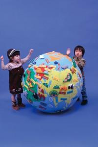 【お年玉セール特価】 布製 ゴロリン地球儀 【送料無料】-ベビー