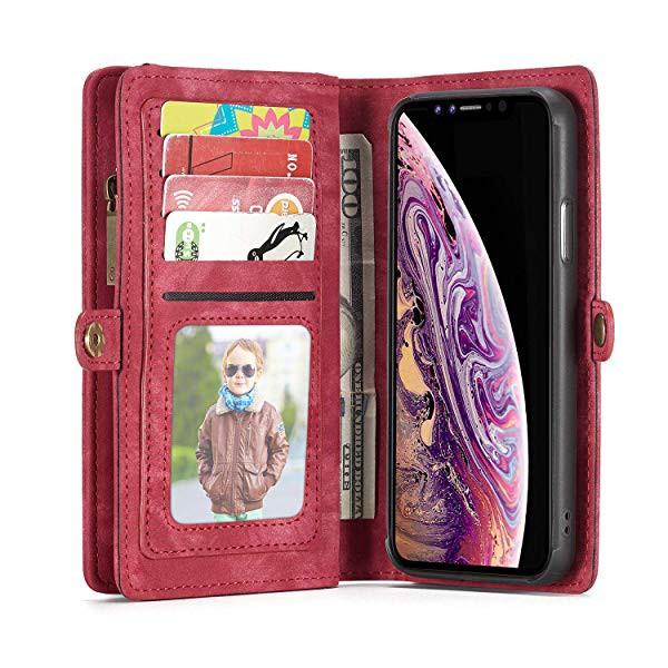 6a4861e3d7 iphoneXr ケース 高品質 手帳型 カバー 磁石吸着 財布型 TPU 本革 レザー ...