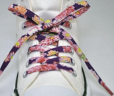 メール便 和柄靴ひも 柄多数ちりめん靴紐ノーマル おしゃれなメンズレディーススニーカーくつひも クツヒモ  日本製シューレース(色304)の通販はWowma!