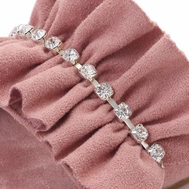 ダイヤモンド フリル フラット サンダル 4color