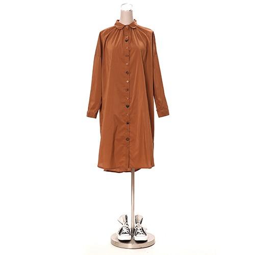 NIPPONのごはん刺繍ワンピース シャツワンピース シャツ フリーサイズ