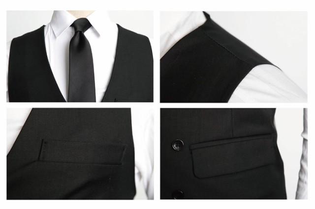 0e2c4880ec547 メンズ ベスト ジレ フォーマル ビジネス スーツ ダブル ボタン 紳士 結婚式 ダンディー ネクタイ e431