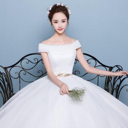 e189aeeb5ff46 韓国風新品レディースウェディングドレス二次会パーティードレス シンプルドレス 司会者ふわふわ撮影写真