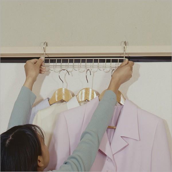 スリムハンガー6連 2本組 15064 ステンレスハンガーフック スリムハンガー フックハンガー 洗濯 物干し