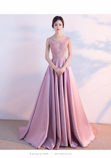 レースロングドレス 演奏会 パーティードレス 結婚式 ウェディングドレス お呼ばれ 発表会 フォーマル 二次会 ドレス ピンクドレス|au  Wowma!(ワウマ)