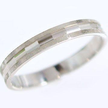 激安通販の ホワイトゴールド ダイヤカット マリッジリング 結婚指輪 指輪 K18wg ペアリング-指輪・リング