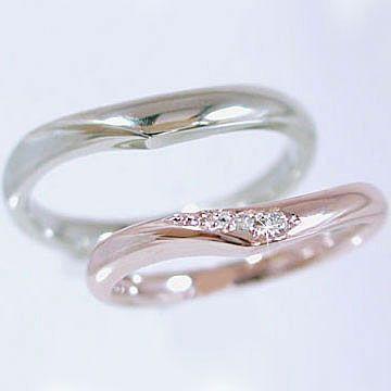 【予約販売品】 ダイヤモンド ダイヤ ピンクゴールド ホワイトゴールド 結婚指輪 マリッジリング 2本セット ペアリング 2本セット 結婚指輪 ダイヤ 0.03ct, 直輸入SHOP e-コレクション:42cf4a85 --- tired.warten-auf-angelina.de