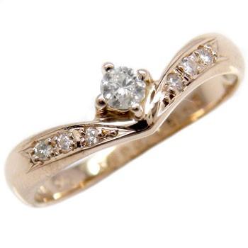 【2019正規激安】 エンゲージリング 婚約指輪 ダイヤモンド 一粒 ピンクゴールドK18 18金 ダイヤモンドリング ダイヤ ストレート プレゼント 女性 ペア 送, 公式 6e9055e3